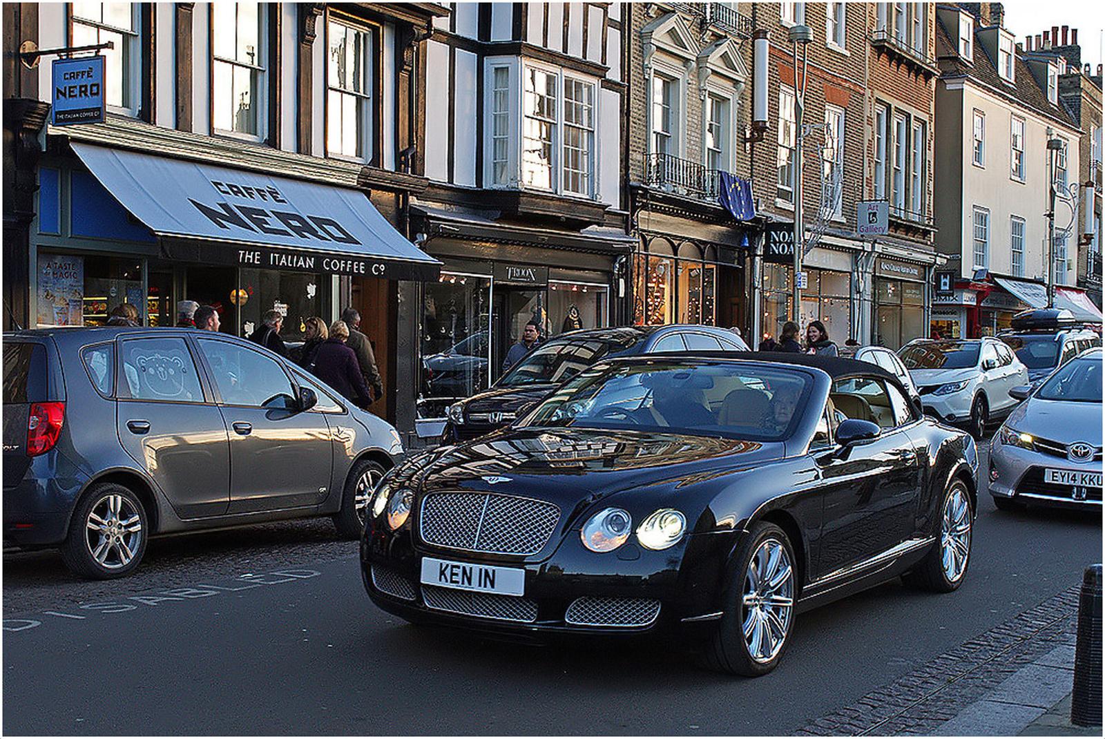 caf italien et voiture anglaise king s parade cambridge photo et image europe united. Black Bedroom Furniture Sets. Home Design Ideas