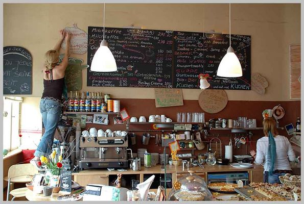 """Cafe """"Milchkaffee"""" in Koepenick"""