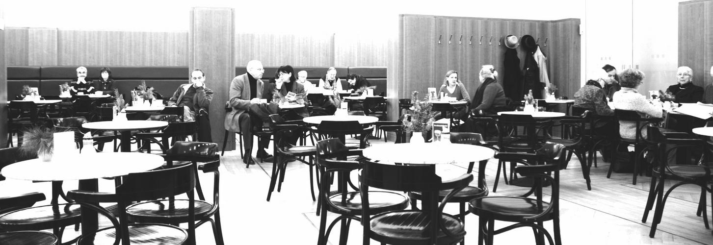 Cafe-szene im Szenecafe
