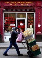 Cageots et cartons à porter, plats à emporter...