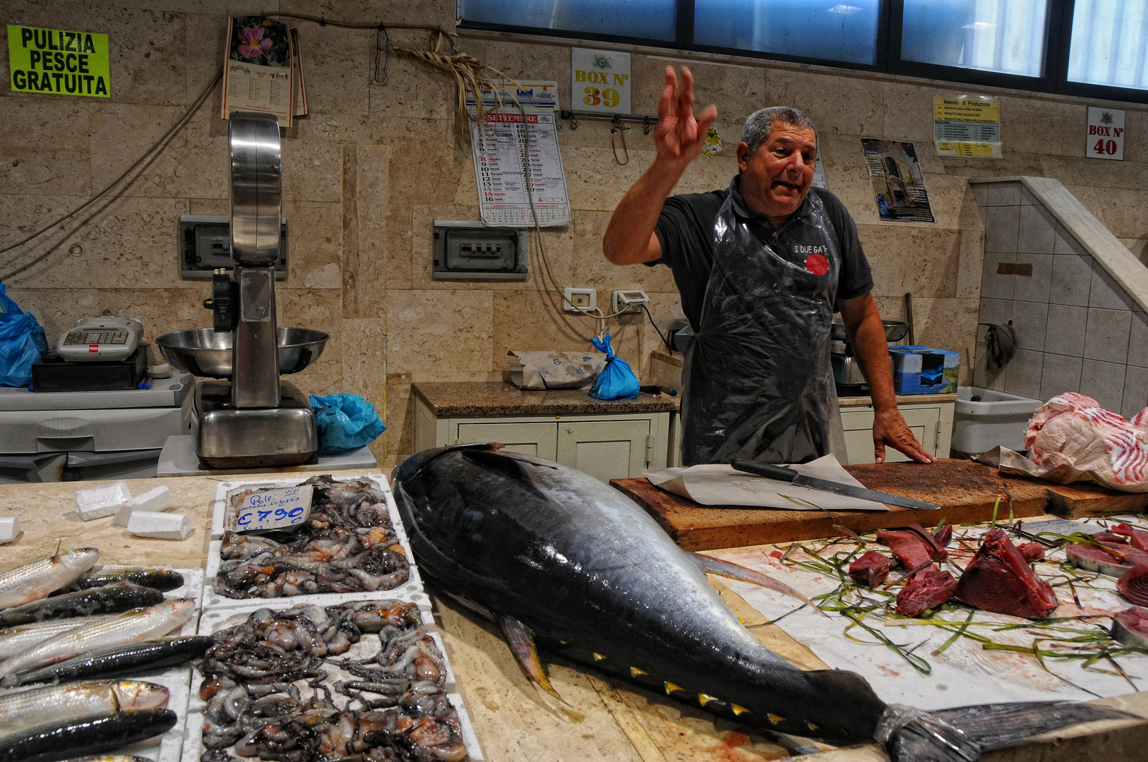 Cagliari - Fischmarkt