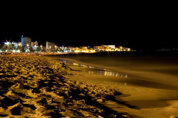 Cala Millor Nachtaufnahme