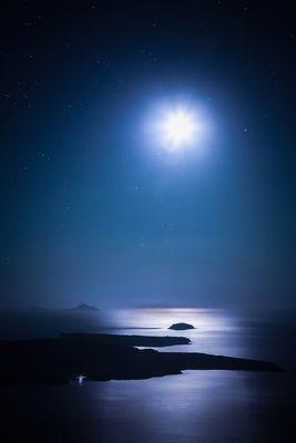 Caldera im Mondlicht