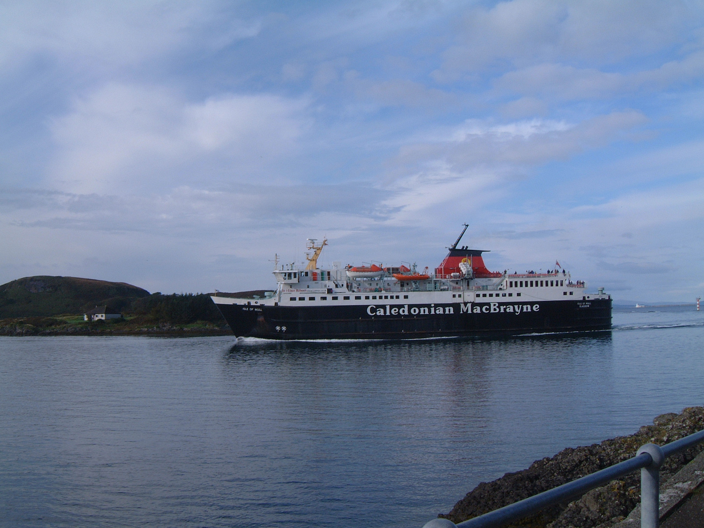 Caledonian MacBrayne Ferry in Oban Harbour