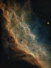 California Nebel in Hubble-Farbpalette