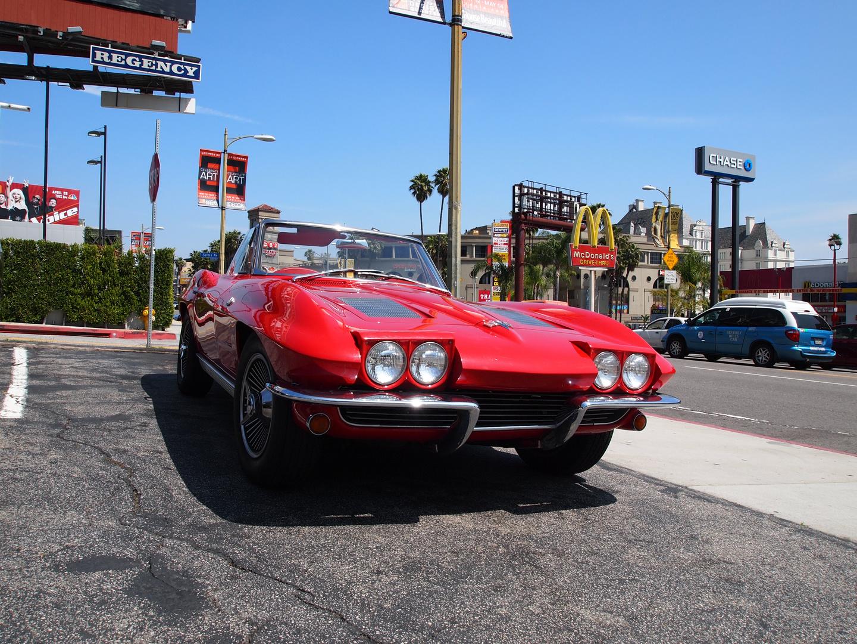 California (Red Corvette)