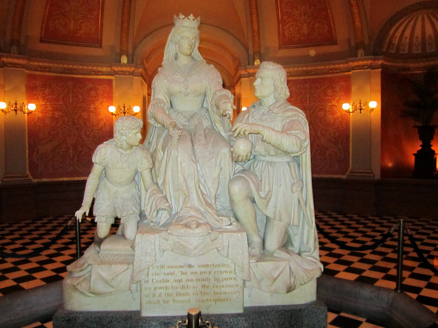 California State Capitol - Statue of the Spanish Queen