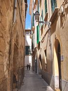 Calle barrio antiguo Palma de Mallorca