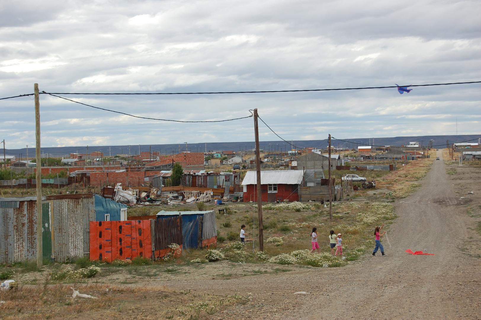 calle de barrio en rio gallegos