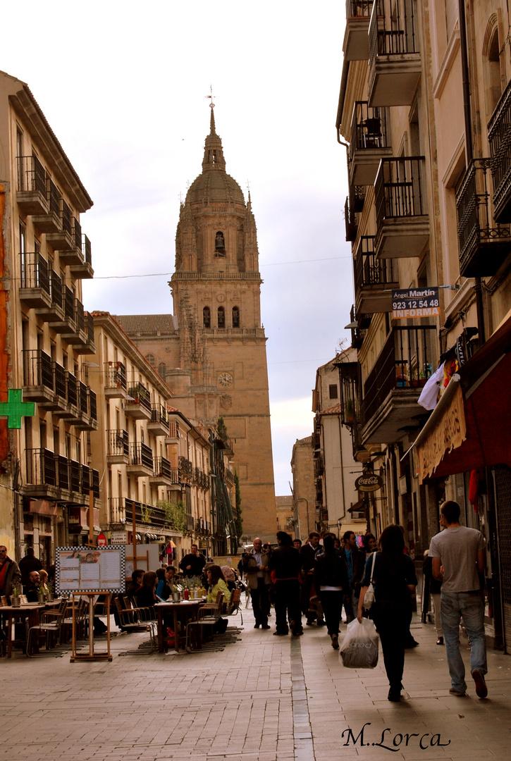 calle deSalamanca - con la catedral al fondo