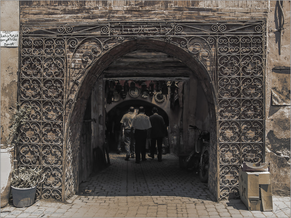 Callejuelas de Marrakech (Marruecos)
