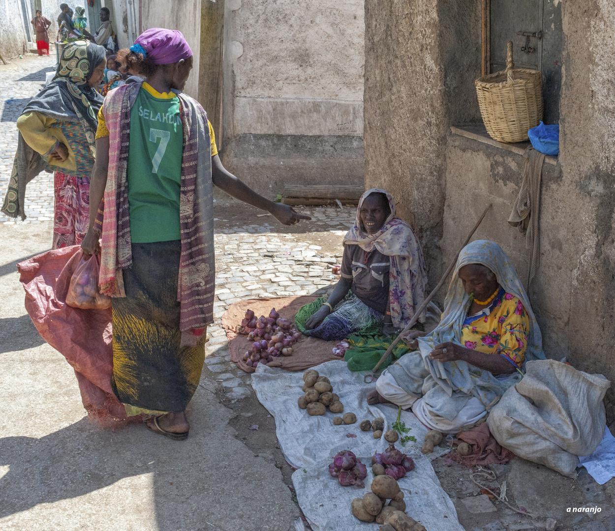 CALLES DE HARAR . ETIOPIA