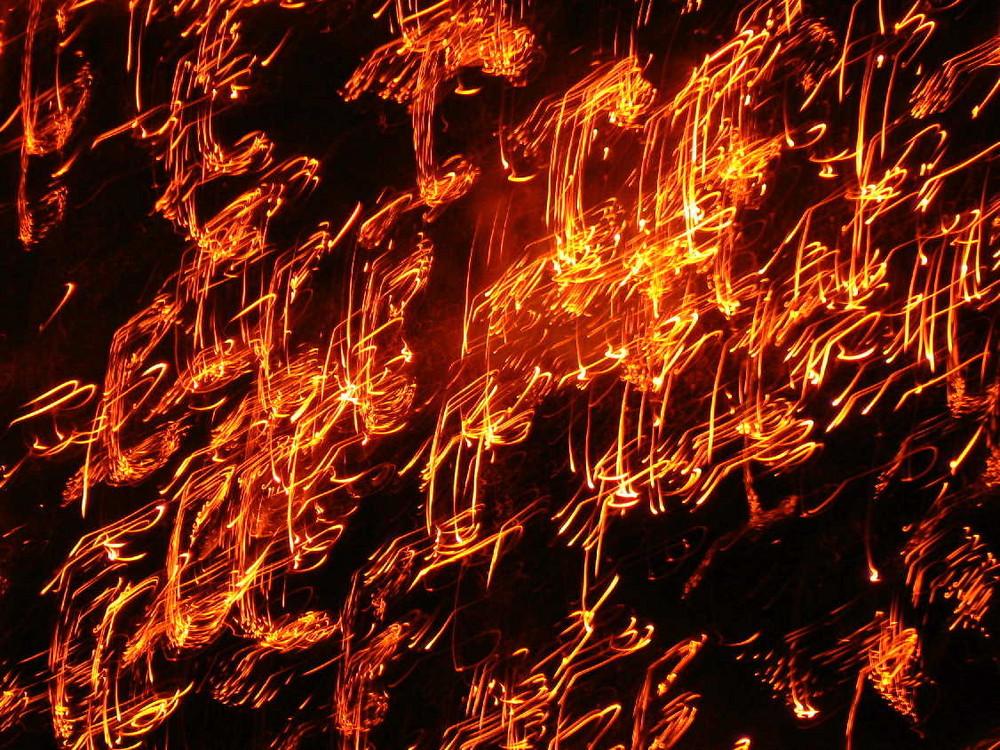Calligraphie de feu