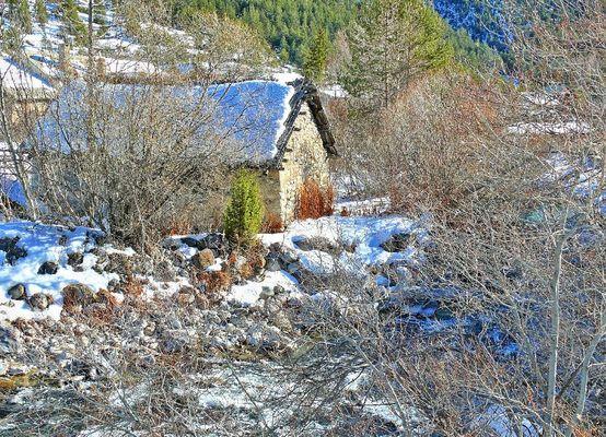 Calme hivernal dans la vallée de la Clarée