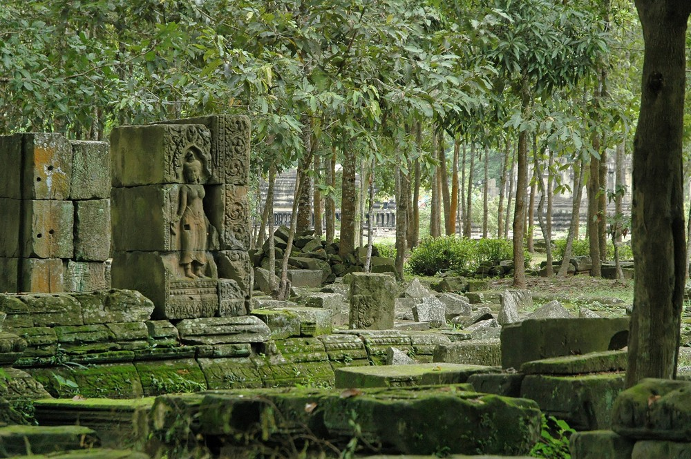 Cambodge 2006 Angkor. Un peu partout des ruine luttent contre la foret