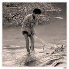 cambodian fisherboy