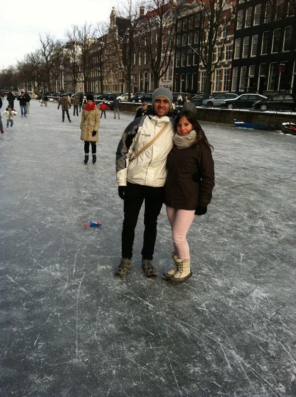 Caminando por los canales dde Amsterdam