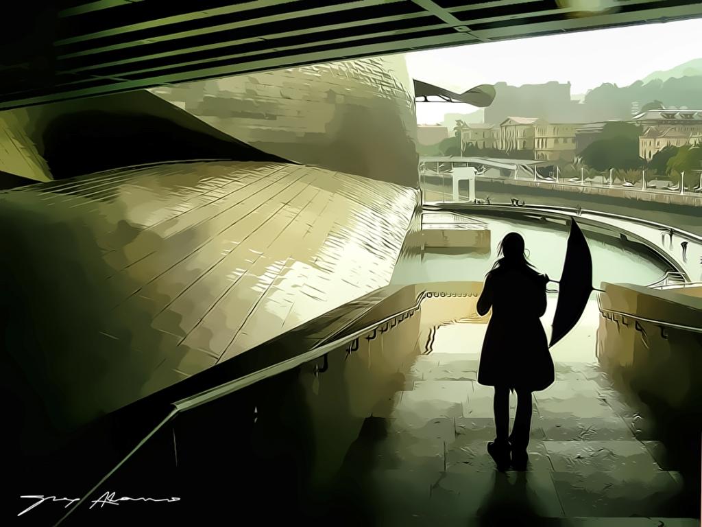 Camino del museo