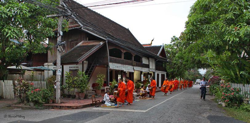 CAMINOS DE LAOS - La ofrenda a los monjes