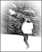 camminare nel bianco