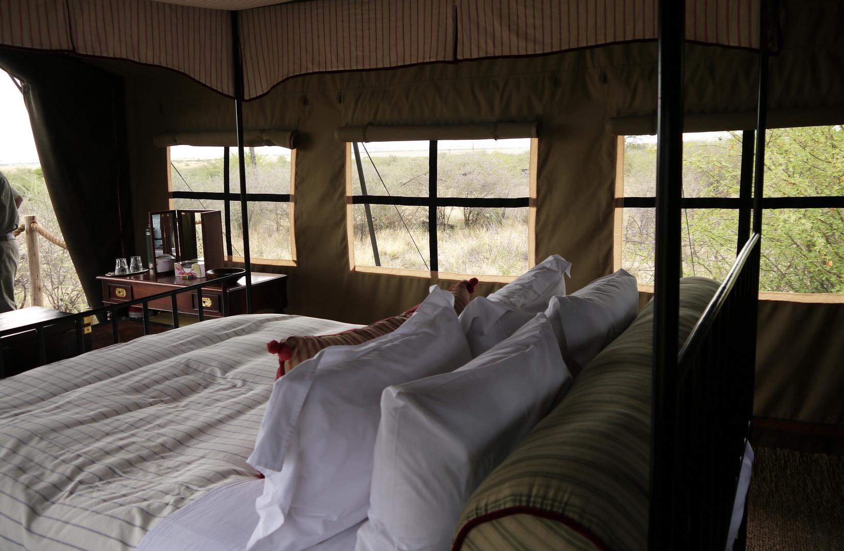 Camp Kalahari , Blick aus dem Zelt