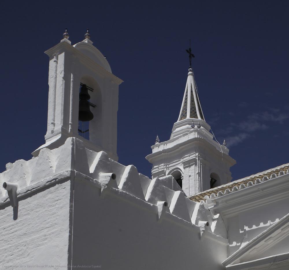 Campanarios de la Reina Pastora Madre (Almonte Huelva Andalucia España)