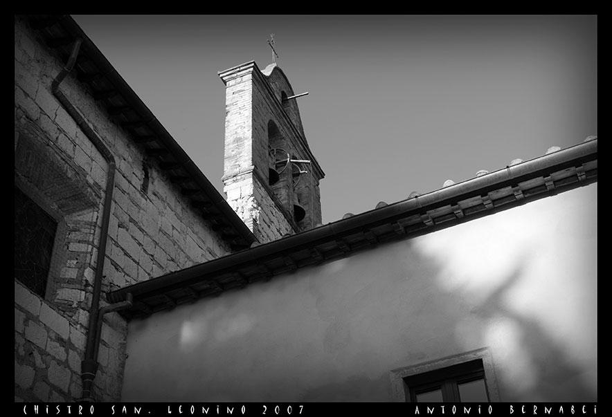 Campanile Chiesa di San Leonino.Castellina in Chianti