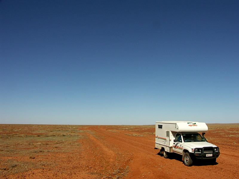 Camper im Outback