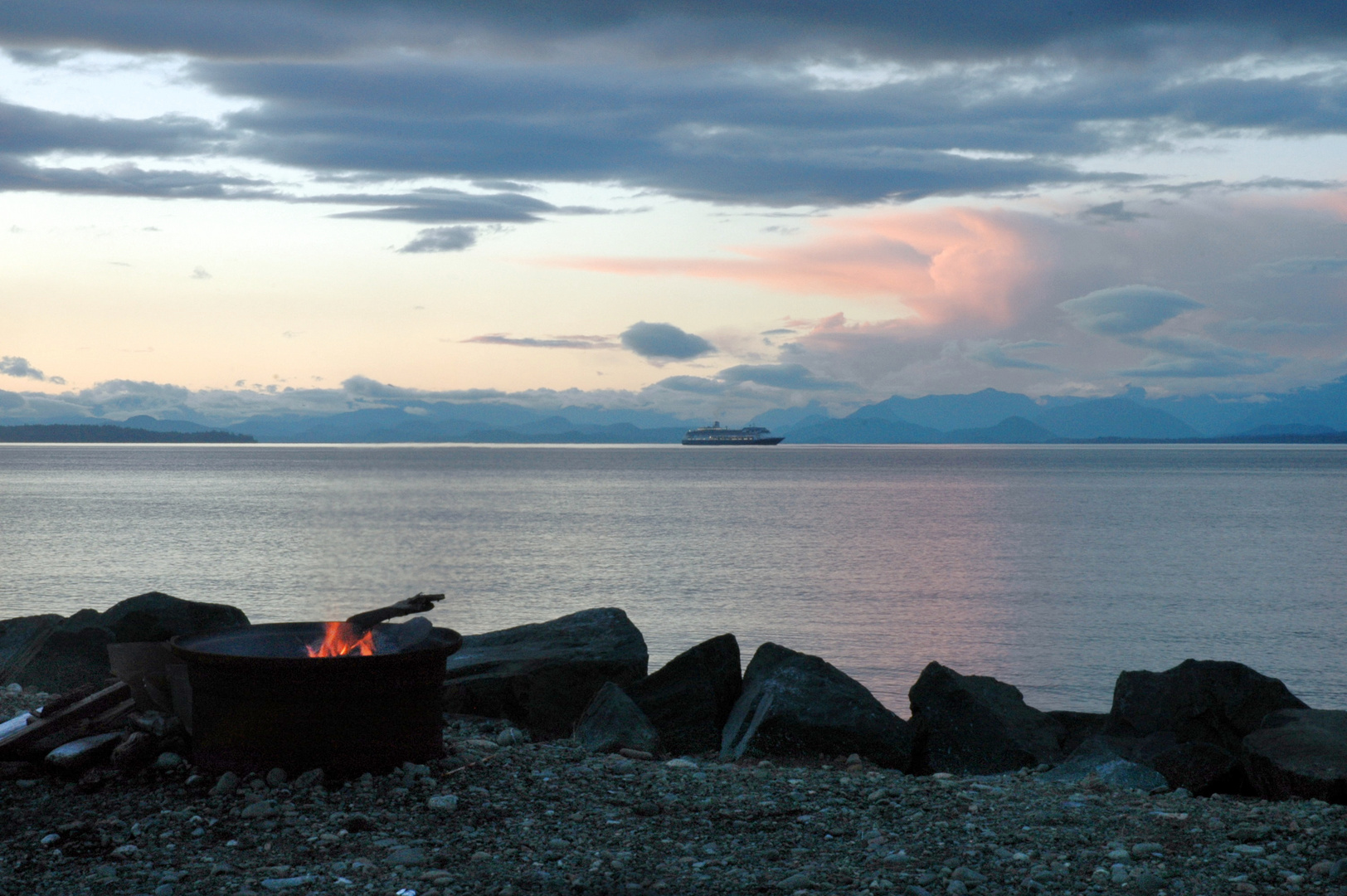 Campfire at Salmon Point