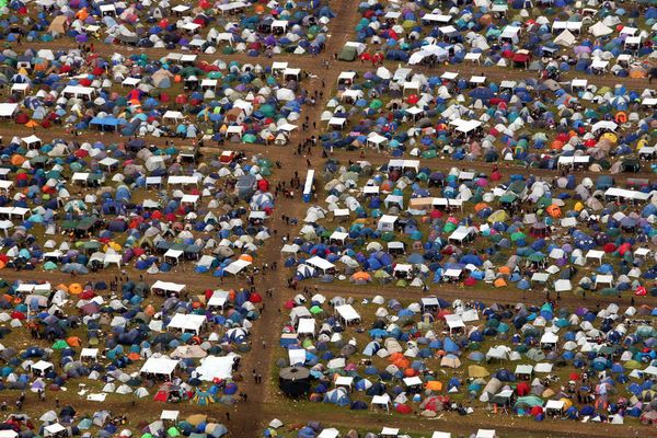 Camping-Idyll in freier Natur