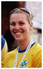 Campionessa mondiale di.... sorrisi con la racchetta!