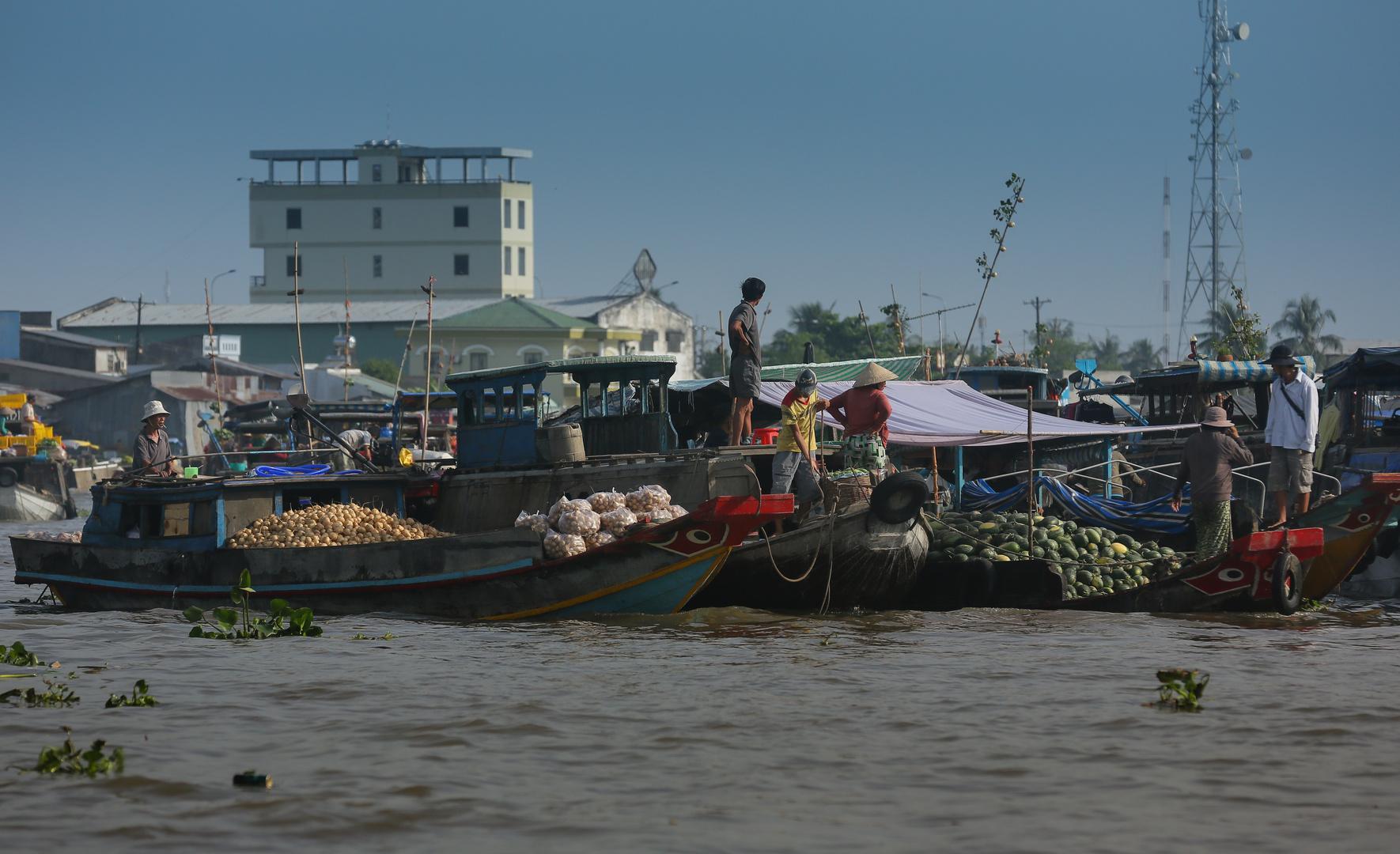 Can Tho´s schwimmende Marktschiffe