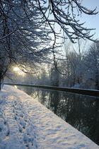 canal de reims et neige