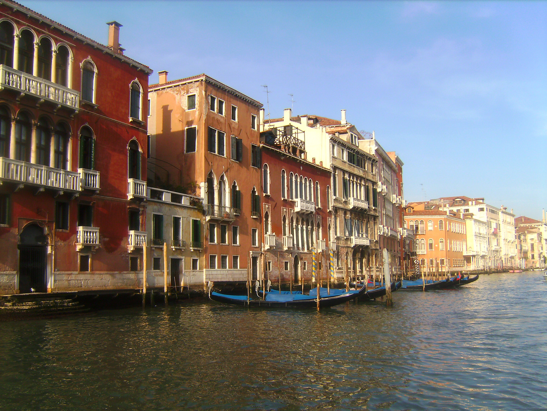 Canale Grande Venedig Bootsfahrt Richtung Marcusplatz