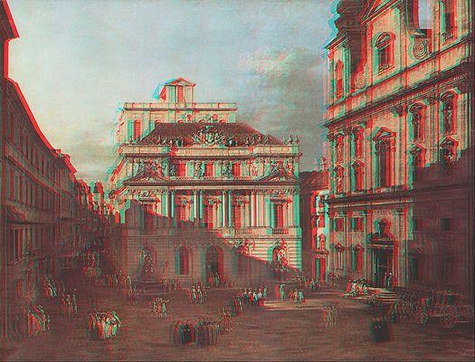 Canaletto: Ansicht von Wien 3D