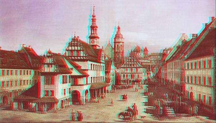 Canaletto: Der Marktplatz von Pirna 3D