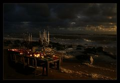 Candle-Light-Dinner at the North-Sea :)