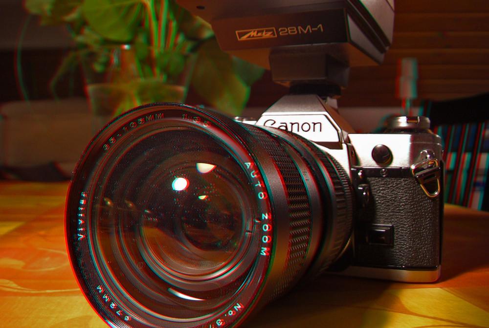 Canon AE-1 ( 3D-Foto )