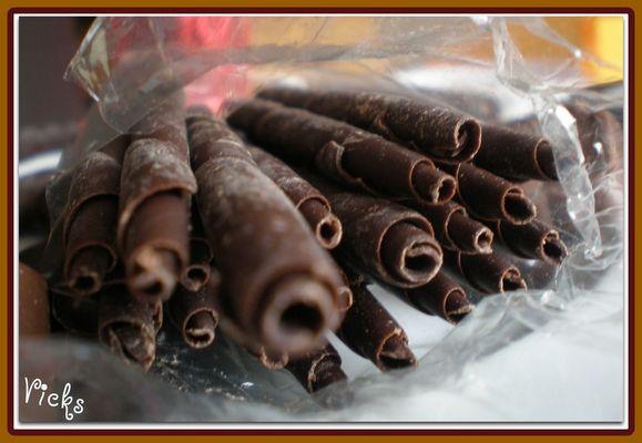 Canutillos de chocolate
