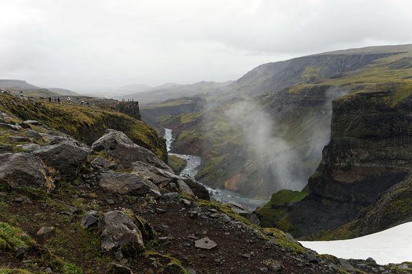 Canyon des Fossá-Flusses