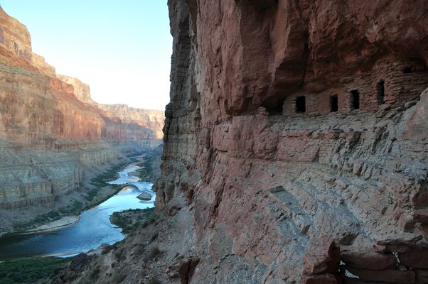 Canyon Granaries at Dusk