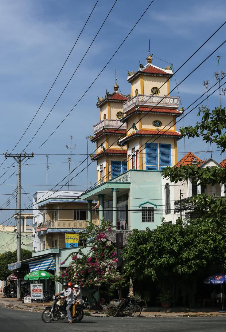 Cao Dai Kirche im Mekongdelta
