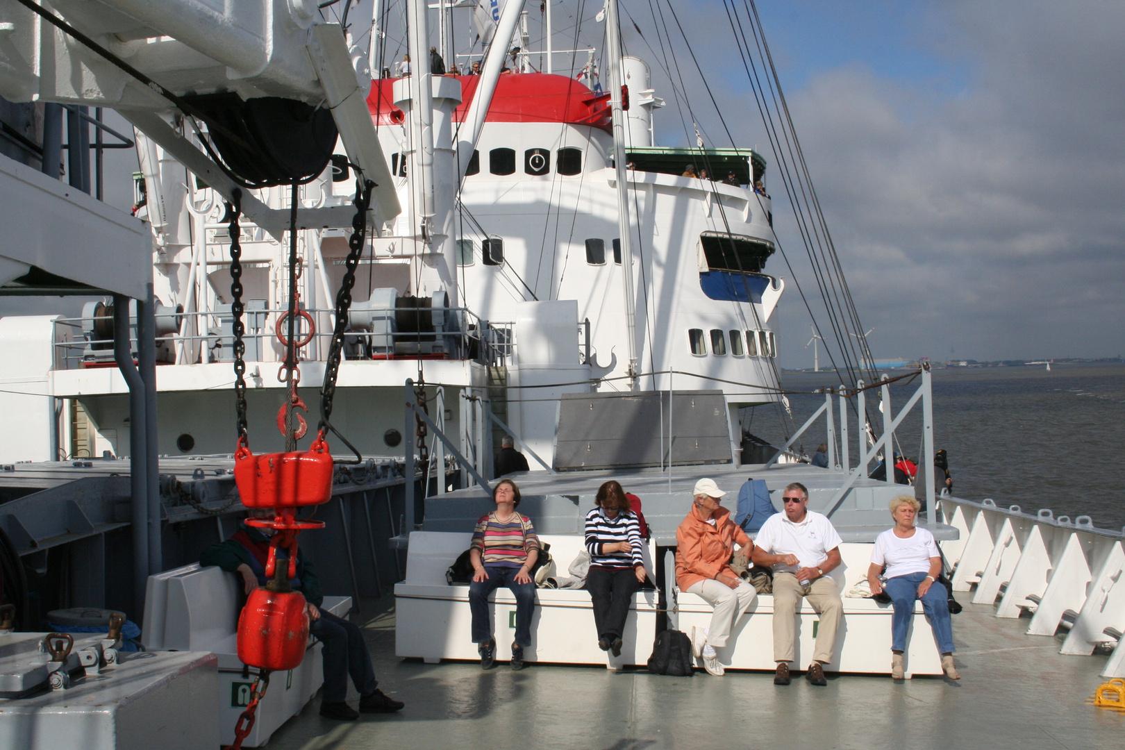 Cap San Diego auf Tour nach Cuxhaven