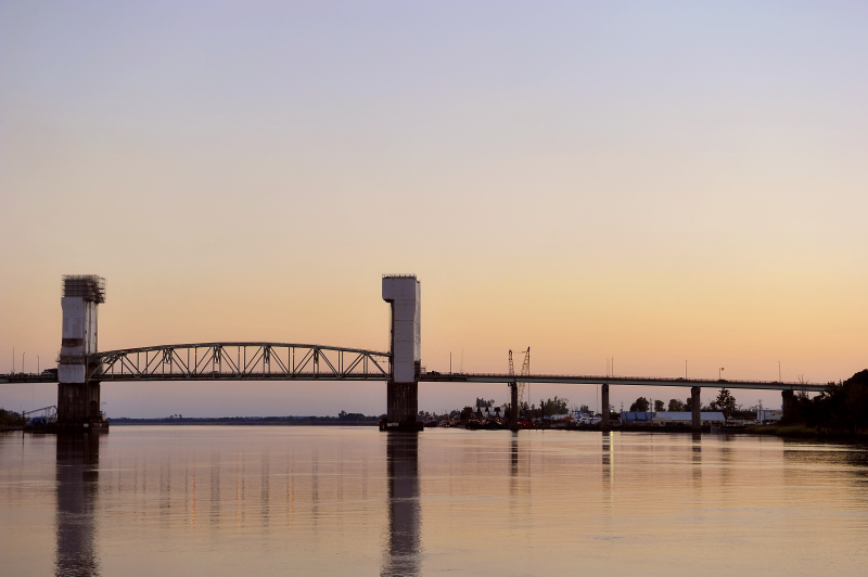 Cape Fear Bridge at sunset