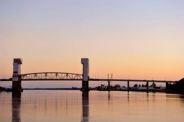 Cape Fear Bridge at sunset