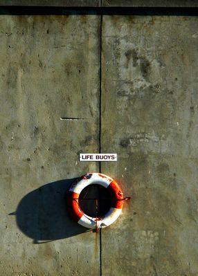 "cape town - ""robben island life buoys"""