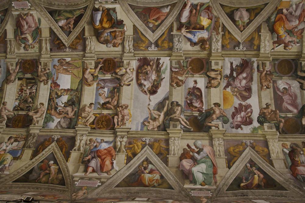 Capella Sistina Deckenfresko Michelangelo