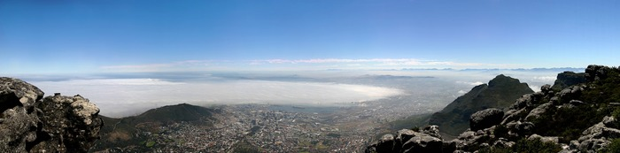 Capetown and Clouds over the Ocean