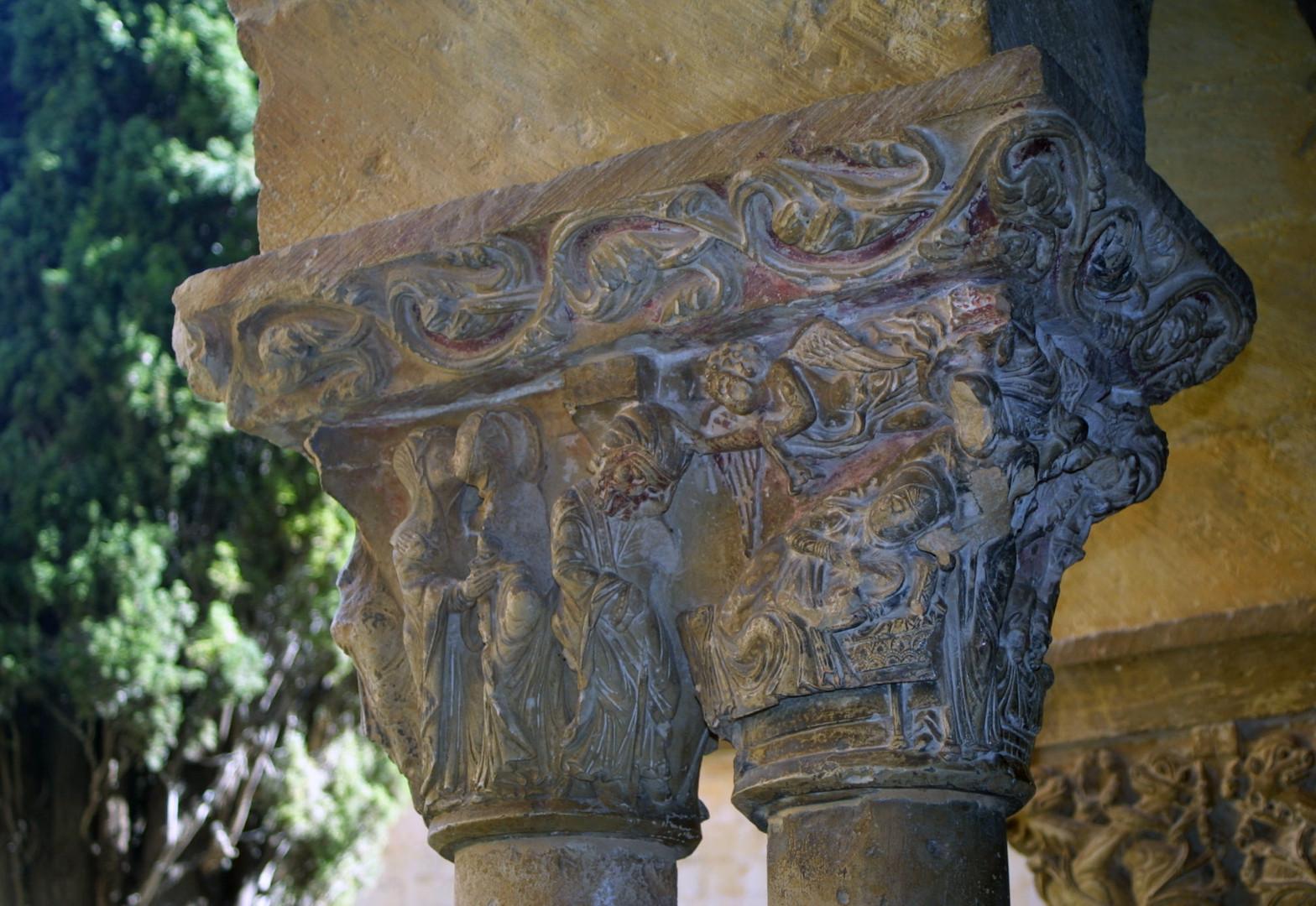 Capitel del claustro de Santo Domingo de Silos