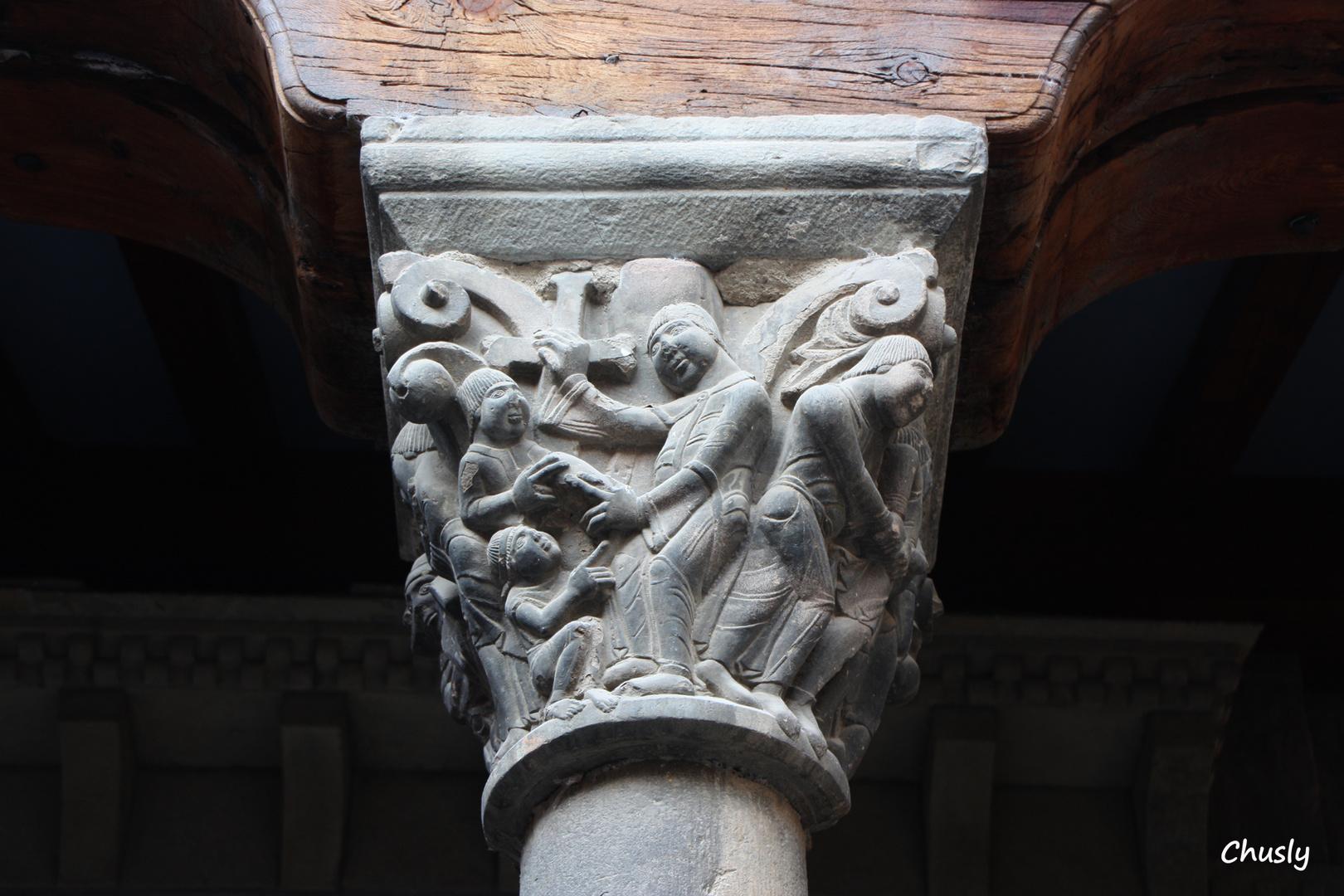 Capitel romanico catedral de Jaca (Huesca) S-XI